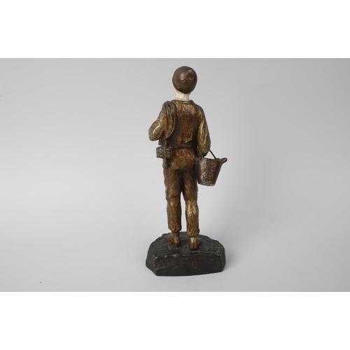 282 - An Art Deco chryselephantine (bronze and ivory) figure of a shoe-shine boy, Dominique Alonzo, (fl. c...