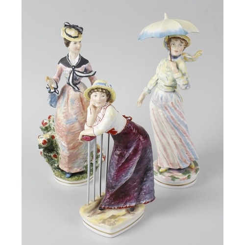 29 - Three Royal Worcester Impressionist Series figurines, comprising 'Camille' and 'Germaine' each after...
