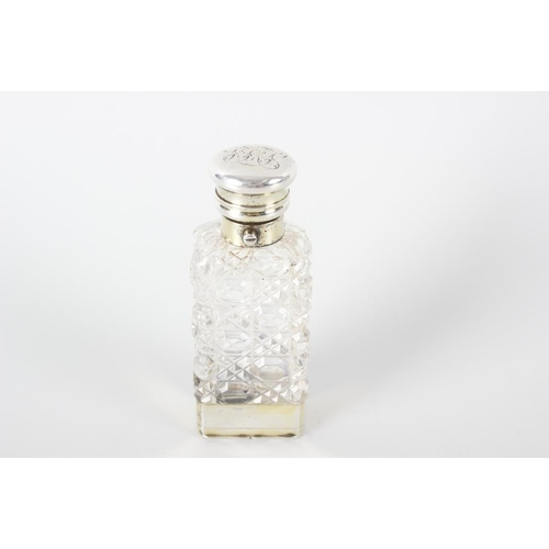 367 - A Sampson Mordan & Co hallmarked silver and cut glass combined scent bottle and vinaigrette, with hi...