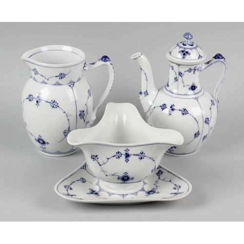 38 - A large collection of Royal Copenhagen porcelain 'blue fluted plain' dinner and tea wares, principal...