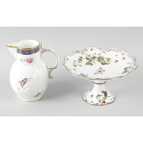 41 - A suite of Coalport 'Strawberry' pattern tableware, to include: a pair of comports, an oval platter,...