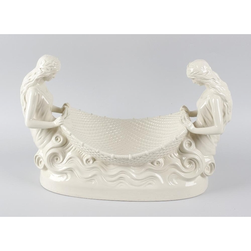 46 - An impressive Wedgwood Queensware 'Naiads' dessert bowl or table centrepiece, after the 1778 origina...
