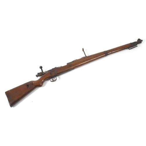 482 - A German Mauser bolt action rifle, deactivated with certificate from the Birmingham gun barrel proof...