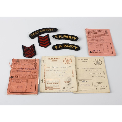 485 - A box containing a selection of printed ephemera related to the Great War, to include magazines, rat...
