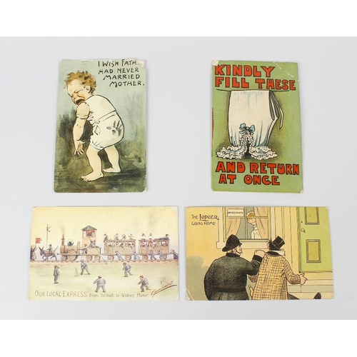 539 - An early 20th century postcard album, comprising approximately 350 assorted postcards, to include va...
