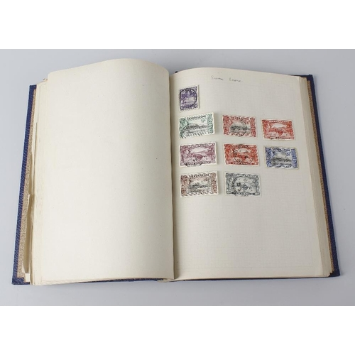 541 - A box containing a collection of assorted stamps and cigarette card albums, to include a folio of lo...