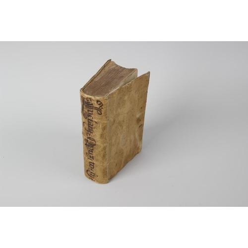 544 - A 16th century vellum-bound book, 'Luciani Samosateni Operum, Tomus III, Cum Gilberti Cognati & Ioan...