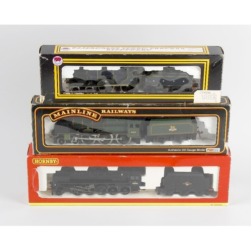 555 - A box containing a selection of eight 00 gauge model railway locomotives, to include Hornby 'Morning...
