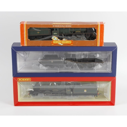 556 - A box containing a selection of eight 00 gauge model railway locomotives, to include Hornby 'British...