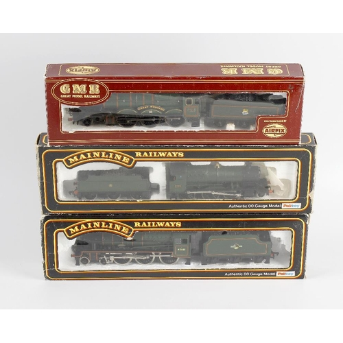 561 - A box containing a selection of eight 00 gauge model railway locomotives, to include Mainline 'Lydha...