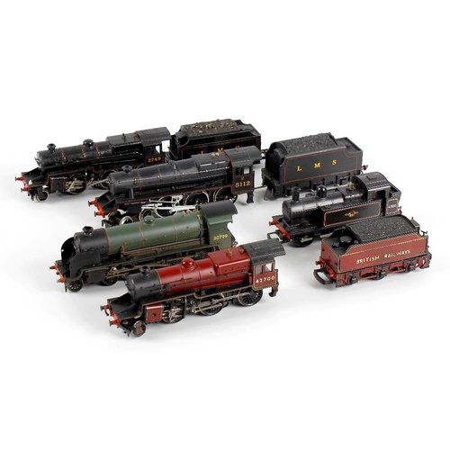 564 - A box containing a selection of eleven assorted 00 gauge model railway locomotives, to include Hornb...