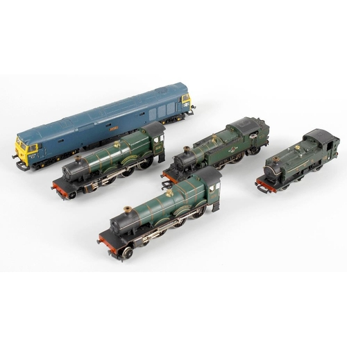 565 - A box containing a selection of ten assorted 00 gauge model railway locomotives, to include Lima 'Ar...