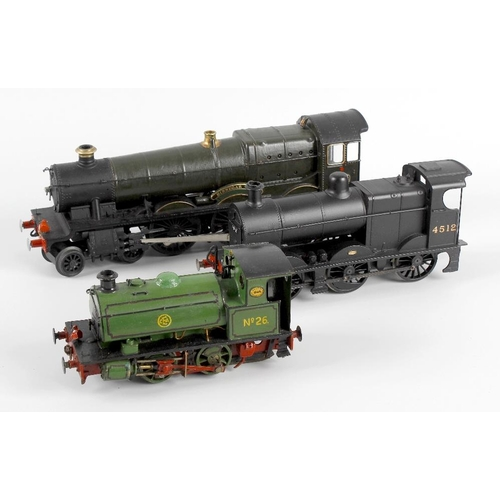 571 - A scratchbuilt brass and metal bodied 0 gauge electric model railway saddle tank locomotive, a Lione...