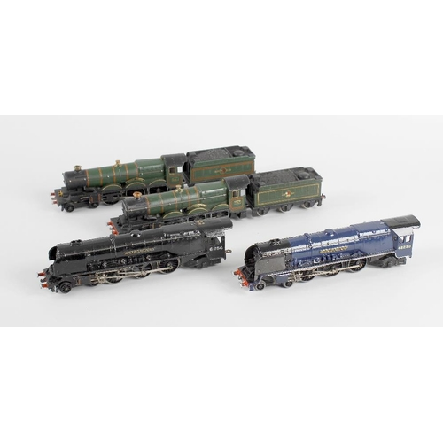 572 - A box containing a selection of ten assorted die cast and metal bodied 00 gauge model railway locomo...