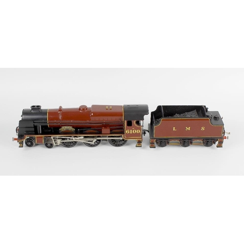 575 - A Bassett Lowke special limited release metal bodied electric 0 gauge model railway, LMS 4-6-0 rebui...