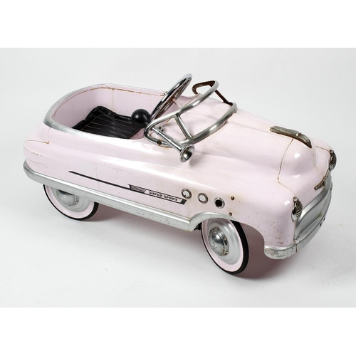 594 - A Mercury 'Super Sport' toy pedal carModelled as a Buick cabriolet, with chromed steering wheel, hor...