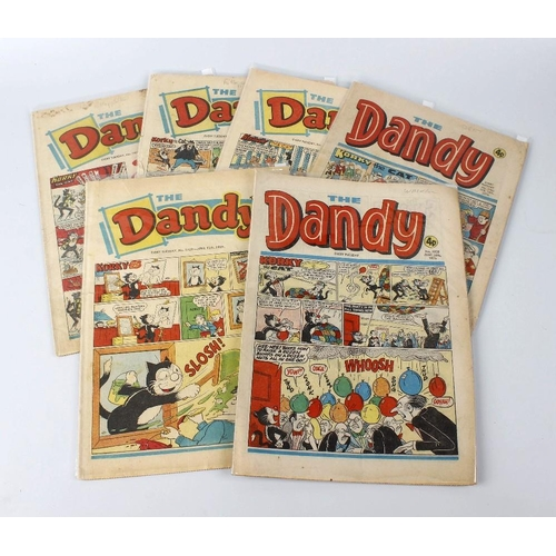 604 - A group of Beano and Dandy comics, to include examples, from 1949 (3) onwards, to include 1950s, 60s...