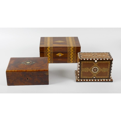 623 - A box containing five Antique books and five Antique boxes, books to include The Seasons by James Th...