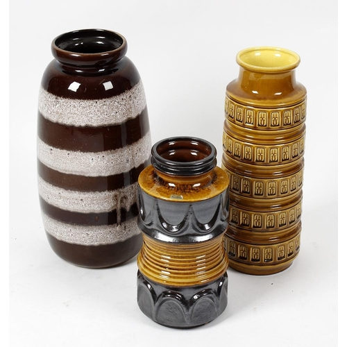 647 - A large group of assorted 20th century west German pottery vases and pots with covers, to include a ...