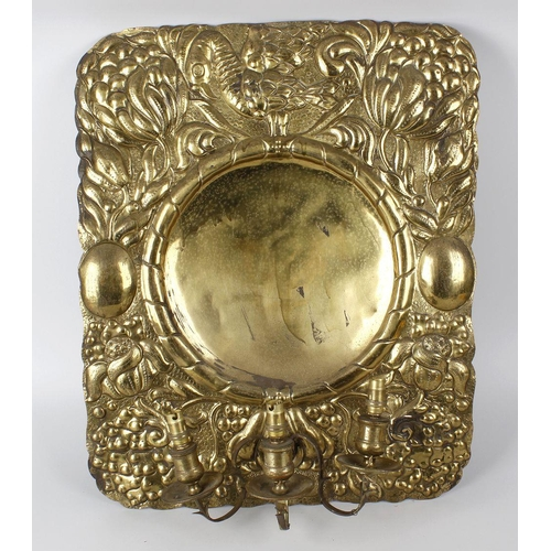 657 - Two boxes containing assorted lighting, to include an Art Nouveau style stable stamp, 27.5 (68.5cm),...
