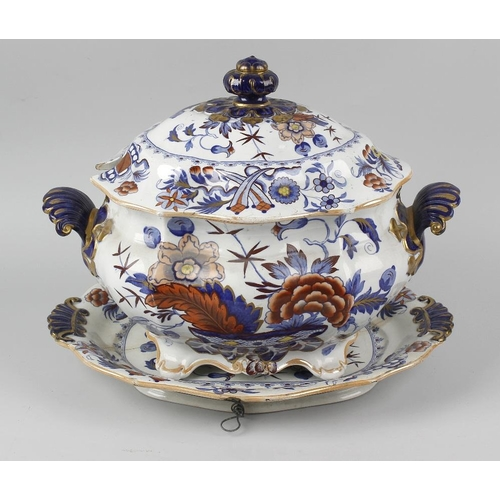 68 - A second quarter 19th century John Ridgway Ironstone China part dinner service, comprising: twenty-f...