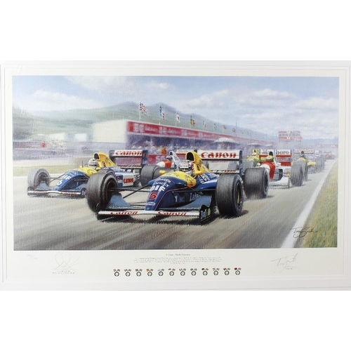 687 - Tony Smith, a signed limited edition coloured print, 'Il Leone - World Champion', signed in pencil N...