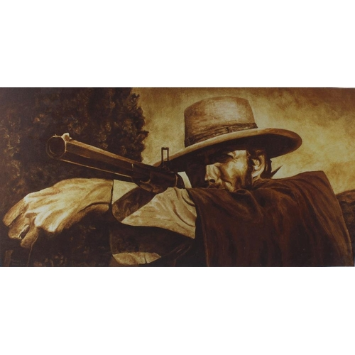 690 - Richard Peters, a signed limited edition print, 'Class Eastwood', a large printed panel, 'WSS Enterp...