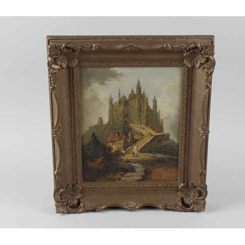 716 - J T Pagan 19th century, a pair of oil paintings on canvas, continental town scenes, signed and dated...