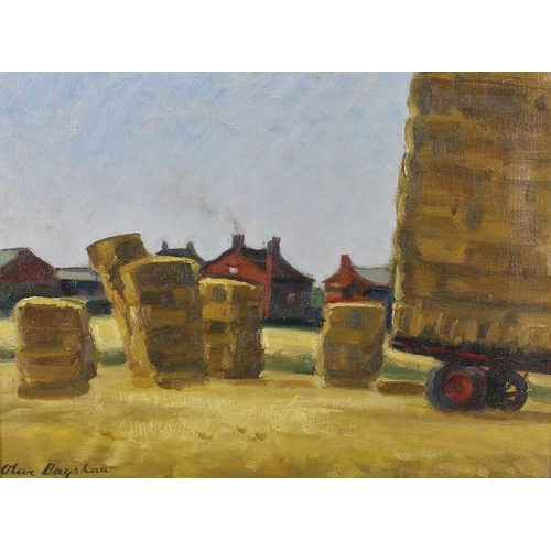 748 - Olive Bagshaw, (20th century)End of the dayAgricultural scene Oil on canvasSigned lower left 11.25 x...