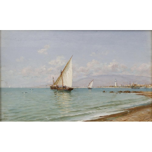 768 - E. Florino, (20th century), Malaga, oil on canvas, signed and dated lower left 1907 E Florino, 19.25...
