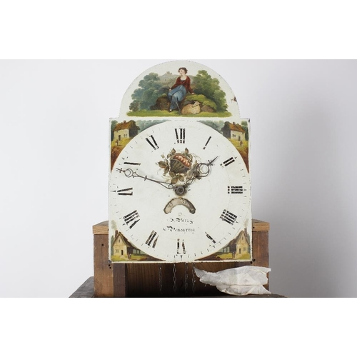 846 - An early 19th century Welsh oak- and mahogany-cased 30-hour painted dial longcase clock. Parry, Blen...