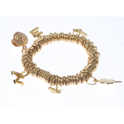 1131 - (131747-1-Q) LINKS OF LONDON - a 'sweetie' charm bracelet. The 'sweetie' charm bracelet, suspending ...