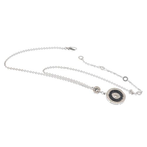1171 - (3694-9-A) BULGARI - a diamond pendant. Designed as an alternating series of brilliant-cut diamond a...