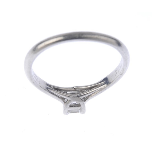 1307 - (549392-1-A) TIFFANY & CO. - a platinum 'Lucida' diamond single-stone ring. The Lucida-cut diamond, ...