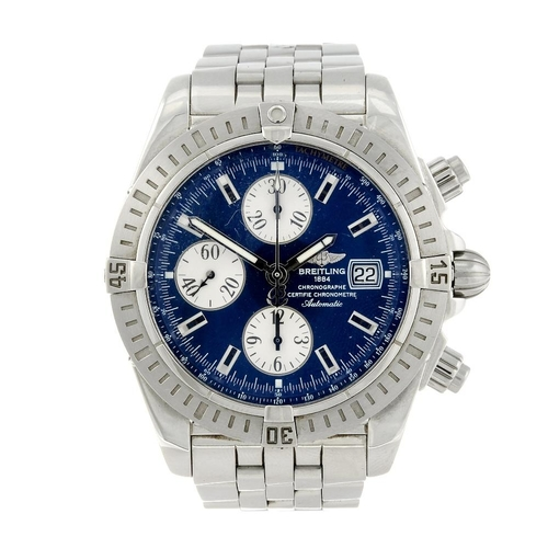 1404 - (203330) BREITLING - a gentleman's Chronomat Evolution chronograph bracelet watch. Stainless steel c...
