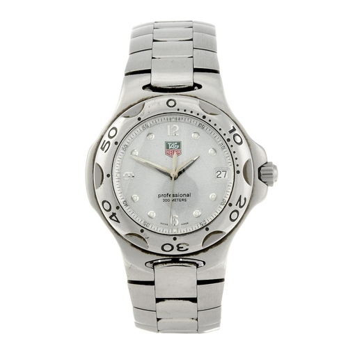 1408 - (72341) TAG HEUER - a gentleman's Kirium bracelet watch. Stainless steel case and calibrated bezel. ...