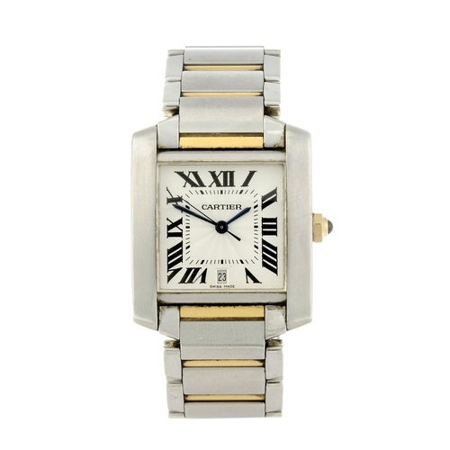 1409 - (130477) CARTIER - a Francaise bracelet watch. Stainless steel case. Reference 2302, serial 316719CD...