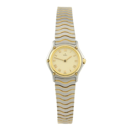 1414 - (131258-1-A) EBEL - a lady's bi-metal Classic Wave bracelet watch. Reference 1057901, serial 1810394...