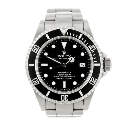1415 - (131350-1-A) ROLEX - a gentleman's stainless steel Oyster Perpetual Date Sea-Dweller bracelet watch....