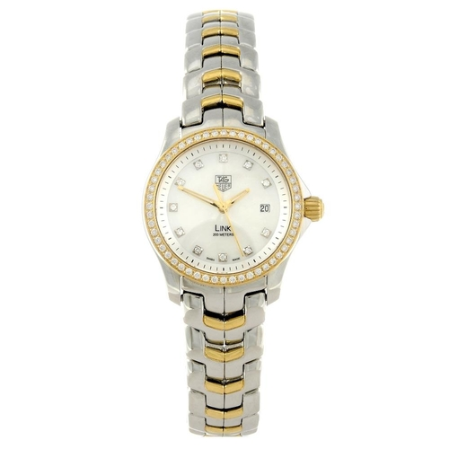 1416 - (131354-1-A) TAG HEUER - a lady's bi-metal Link bracelet watch. Reference WJF1354, serial RKC6171.  ...