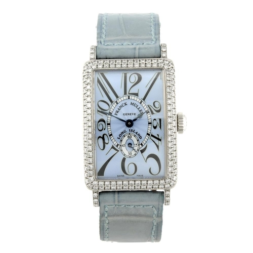 1419 - (131747-1-P) FRANCK MULLER - a lady's 18ct white gold Long Island wrist watch. Reference 900S6D, ser...