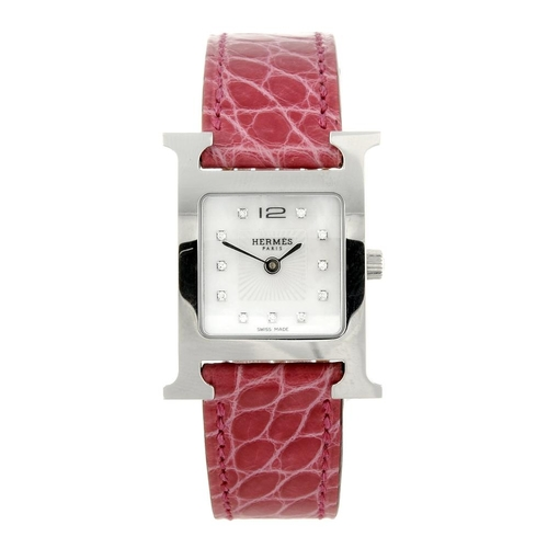 1420 - (131747-1-S) HERMÈS - a lady's stainless steel Heure H wrist watch. Reference HH1.210, serial 303190...