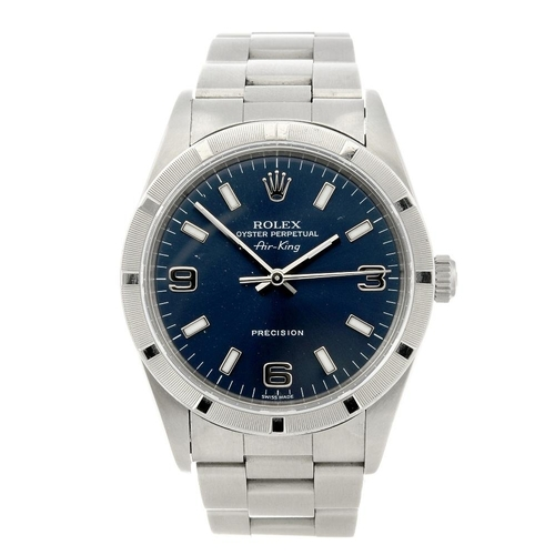1422 - (132361-1-A) ROLEX - a gentleman's stainless steel Oyster Perpetual Air-King Precision bracelet watc...