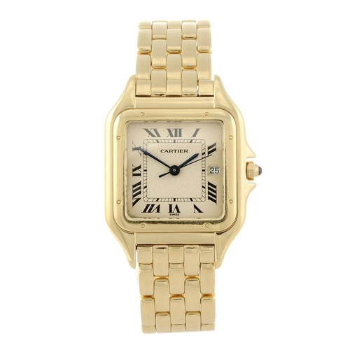1423 - (132790-2-A) CARTIER - a 18ct yellow gold Panthere bracelet watch. Numbered 887968C 005804.  <br>Fel...