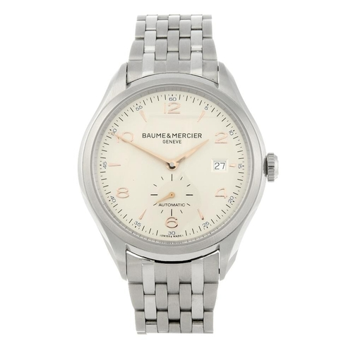 1426 - (4110-1-A) BAUME & MERCIER - a gentleman's stainless steel Clifton bracelet watch. Reference 65717, ...