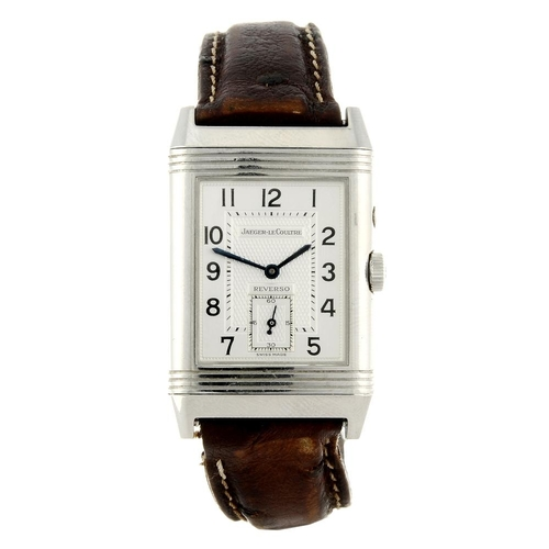 1427 - (4124-1-A) JAEGER-LECOULTRE - a gentleman's stainless steel Reverso Night & Day wrist watch. Referen...
