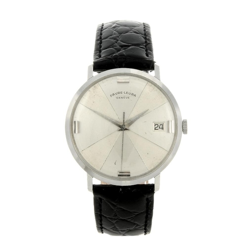 1429 - (4161-1-A) FAVRE-LEUBA - a gentleman's stainless steel wrist watch. Numbered 59533317.  <br>Fellows ...