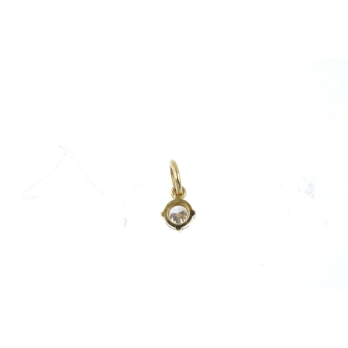 143 - A brilliant-cut diamond single-stone pendant. Estimated diamond weight 0.30ct, J-K colour, VS2-SI1. ...