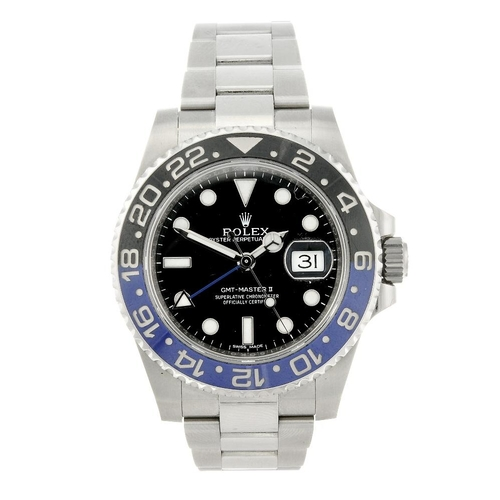 1433 - (401513-1-A) ROLEX - a gentleman's stainless steel Oyster Perpetual Date GMT-Master II bracelet watc...