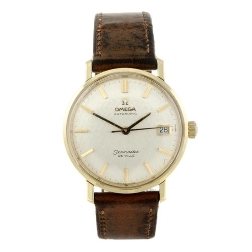1434 - (401535-1-A) OMEGA - a gentleman's bi-colour Seamaster De Ville wrist watch. Numbered 166.020. <br>F...